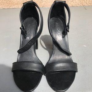 ALDO black strap high heels